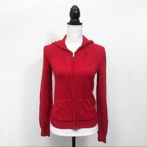 Ralph Lauren Small red hooded sweater